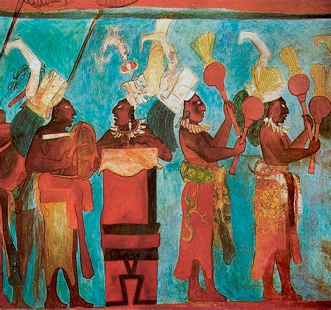 imagenes de murales mayas m 250 sicos del mural bonak cultura maya dise 241 os