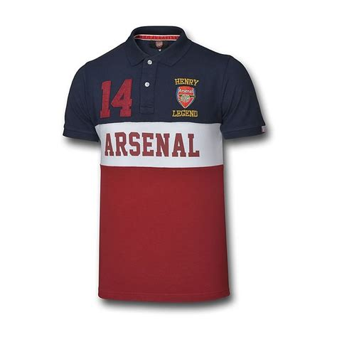 arsenal direct arsenal legend henry polo polo shirts clothing mens
