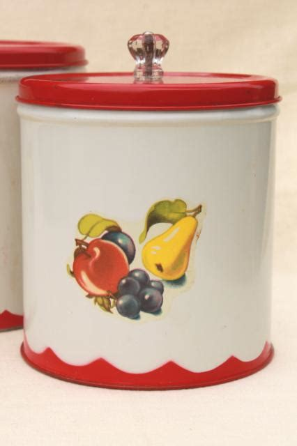 retro canisters kitchen 2018 vintage canister set tins w 1950s retro fruit print kitchen counter canisters