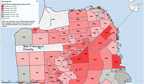 san francisco gentrification map top 10 most expensive san francisco neighborhoods in 2013