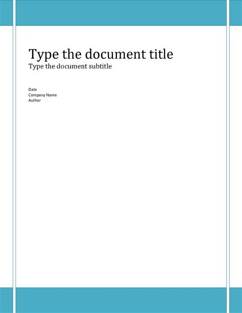 template for cover report cover page template word 2010 cover letter templates