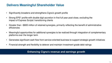 Join The Caign Express by Cigna Ci To Acquire Express Scripts M A Slideshow
