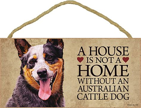 australian cattle wood dog sign wall plaque photo display