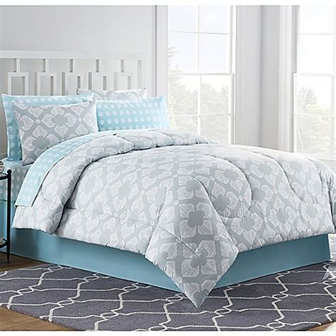 buy chandra 8 piece full comforter set in light grey from