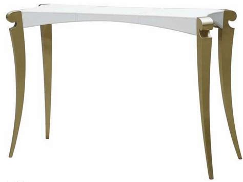 Modern White Console Table by China Post Modern Style White Leather Console Table