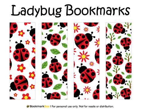 Printable Ladybug Bookmarks | printable ladybug bookmarks