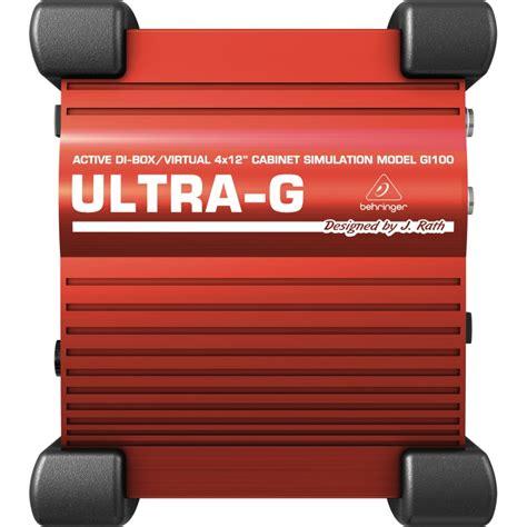 Behringer Ultra G Gi100 Di Box behringer gi100 dj pro