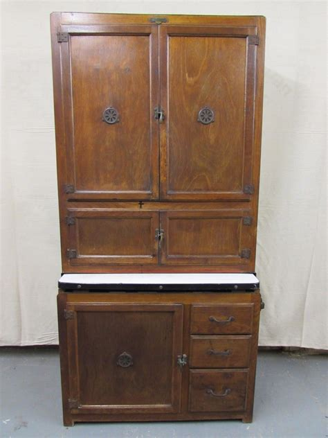 vintage hoosier kitchen cabinet hygena 1920s vintage antique hoosier kitchen oak cabinet