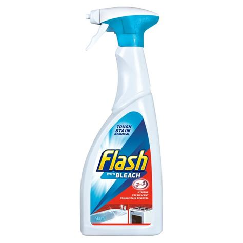 cleaning bathroom with bleach flash spray cleaner with bleach 500ml from ocado