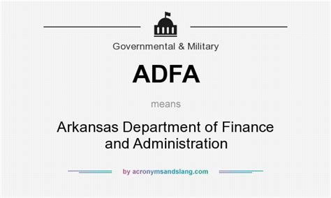 Adfa Arkansas Department Of Finance And Administration