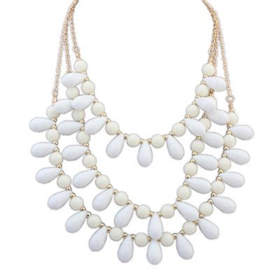 Kalung Korea Water Drop Shape Pendant Decorated Simple Bth 4 fashion white waterdrop shape decorated multilayer design alloy bib necklaces asujewelry