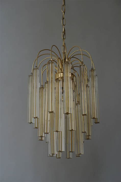 Two Cut Crystal Triedre Camer Venini Chandeliers At 1stdibs Venini Chandelier