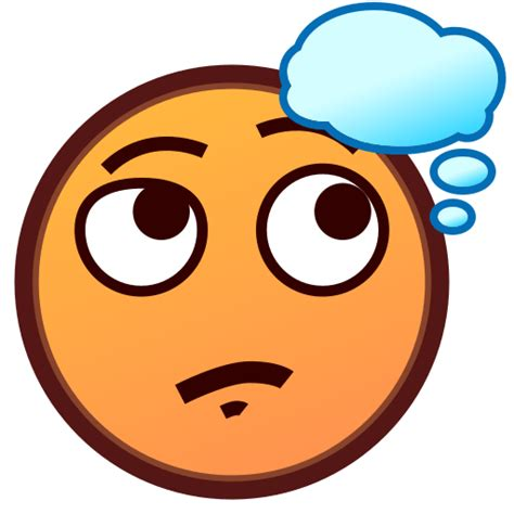 emoji thinking thinking face emoji for facebook email sms id 12244