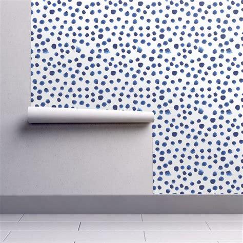 blue wallpaper roll watercolor wallpaper blue brushstroke dot by