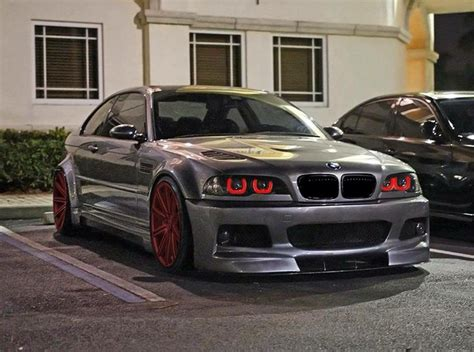 red bmw e46 bmw e46 m3 grey on red rims bmws e36 e46 enjoy