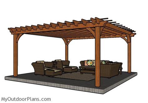 16x16 pergola plans myoutdoorplans free woodworking