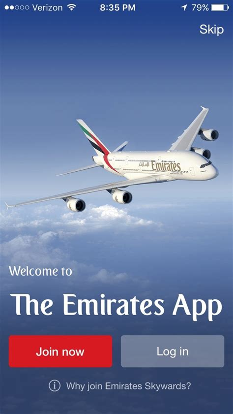 emirates book flight airline mobile apps