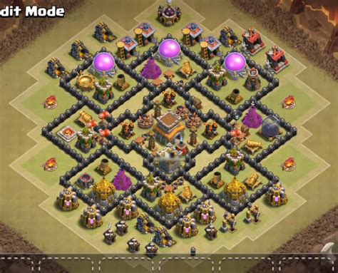 unstoppable war town hall 8 base clash of clans town hall level 8 war base www pixshark