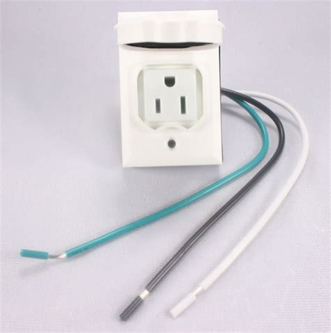 light post with electrical outlet add on l post outlet white