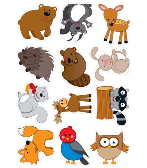 printable animal graphics woodland animals cut outs grade pk 8