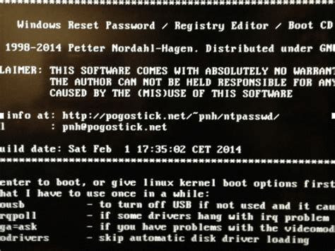 windows reset password registry editor boot cd computer login password recovery the working mouse