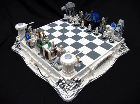 wars chess sets lego wars chess sets are swankier than vader s vinyl