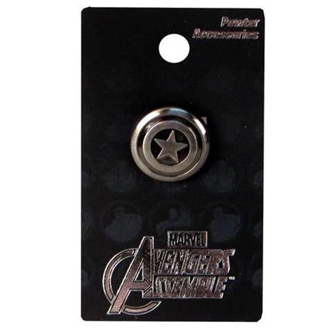 a pint of captain captain america shield pewter lapel pin monogram