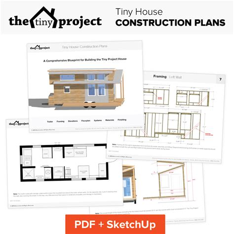 Small Houses Floor Plans Tiny House On Wheels Floor Plans Blueprint For Construction