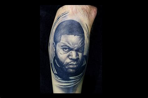 ice cube tattoo top 10 portrait tattoos of musicians