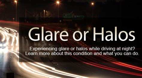 seeing halos around lights in one eye glare and haloes information and advice