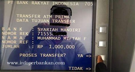 biaya transfer bri ke bank setor tunai di teller bank bca kena biaya administrasi rp