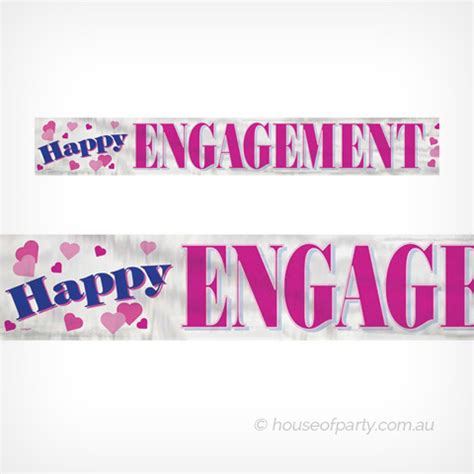 Flag Banner Happy Engagement banner foil happy engagement house of