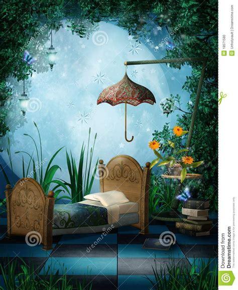 fantasy bedroom fantasy bedroom with ls stock photo image 18571580