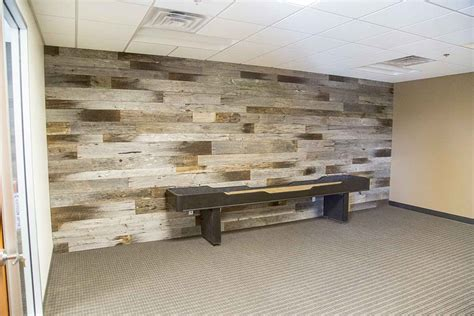 Reclaimed Wood Kitchen Islands by Tobacco Barn Grey Wood Wall Covering Porter Barn Wood