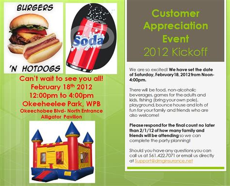 Official Customer Appreciation Event Invitation For 2012 Kickoff Tickets Sat Feb 18 2012 At Customer Appreciation Event Invitation Template
