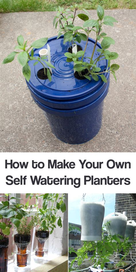 how to make a self watering planter learn how to make your own self watering planters with these ideas