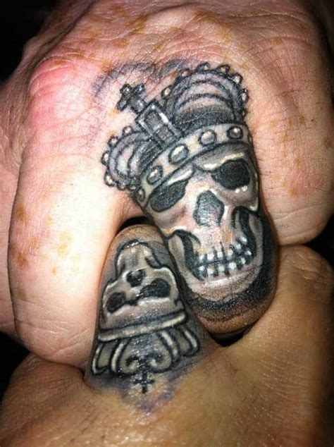 king and queen finger tattoos 40 king and tattoos for that kick