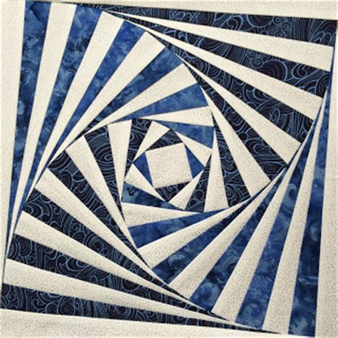 Twisted Log Cabin Quilt by Made Karma Twisted Log Cabin Block Blue And White
