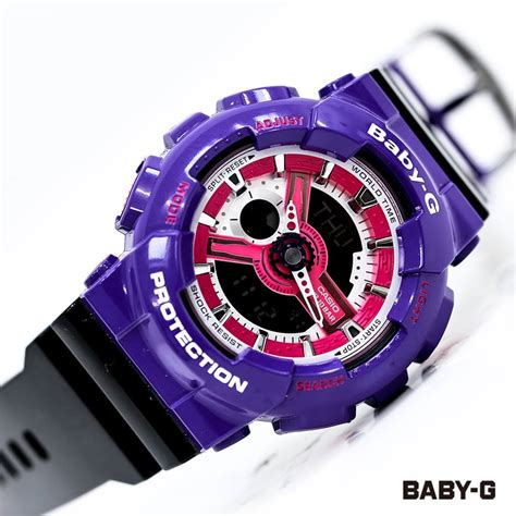 Baby G For Ladys live photos baby g purple ba110nc 6a for