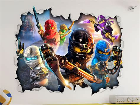 ninjago bedroom lego ninjago 3d look wall vinyl sticker poster childrens