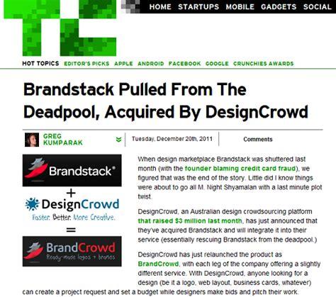 designcrowd branding designcrowd acquires brandstack com