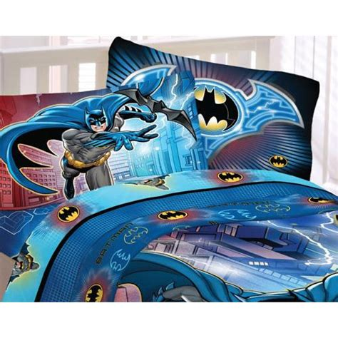 batman twin bed set 3pc batman lightning twin sheet set dc comics sheets
