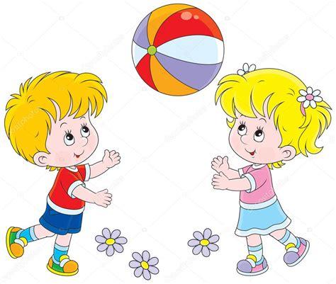 imagenes de niños jugando una ronda ni 241 os jugando con una pelota archivo im 225 genes