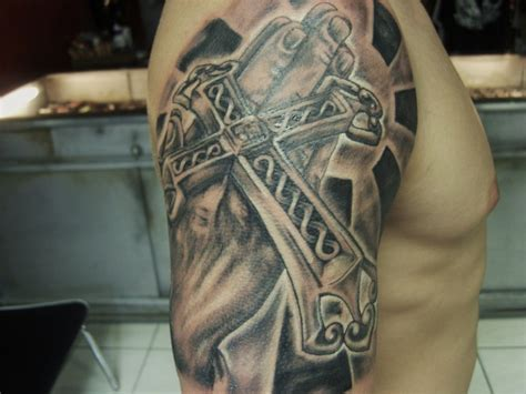 cross and praying hands tattoo pictures at checkoutmyink com