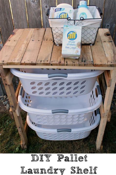 Diy Pallet Laundry Shelf Penny Pincher Jenny Laundry Diy