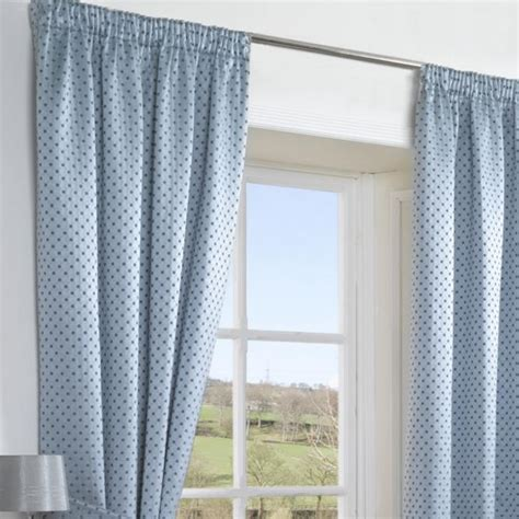 Patterned Thermal Curtains Blue Jacquard Patterned Chenille Thermal Modern Curtains