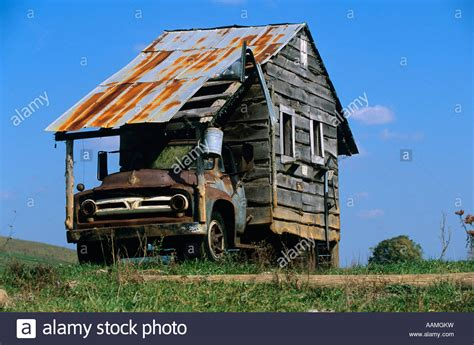 house camber home made cer roadside house truck rv stock photo