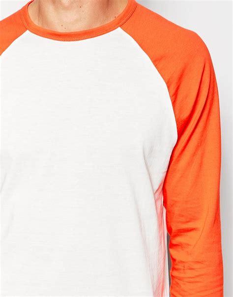 Asos Contrast Raglan Sleeve asos sleeve t shirt with contrast raglan sleeves in