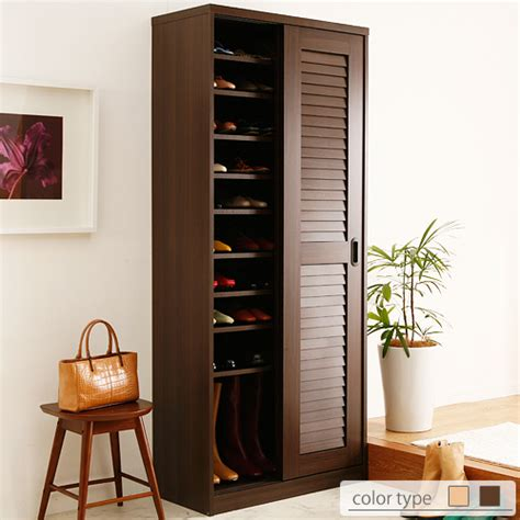 Front Door Shoe Rack Ffws Rakuten Global Market Shoe Rack Door Storage Cupboard Quot Sliding Doors Louvred Shoe Rack