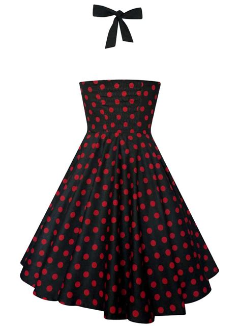 rockabilly swing robe vintage rockabilly swing quot ashley black red polka dots